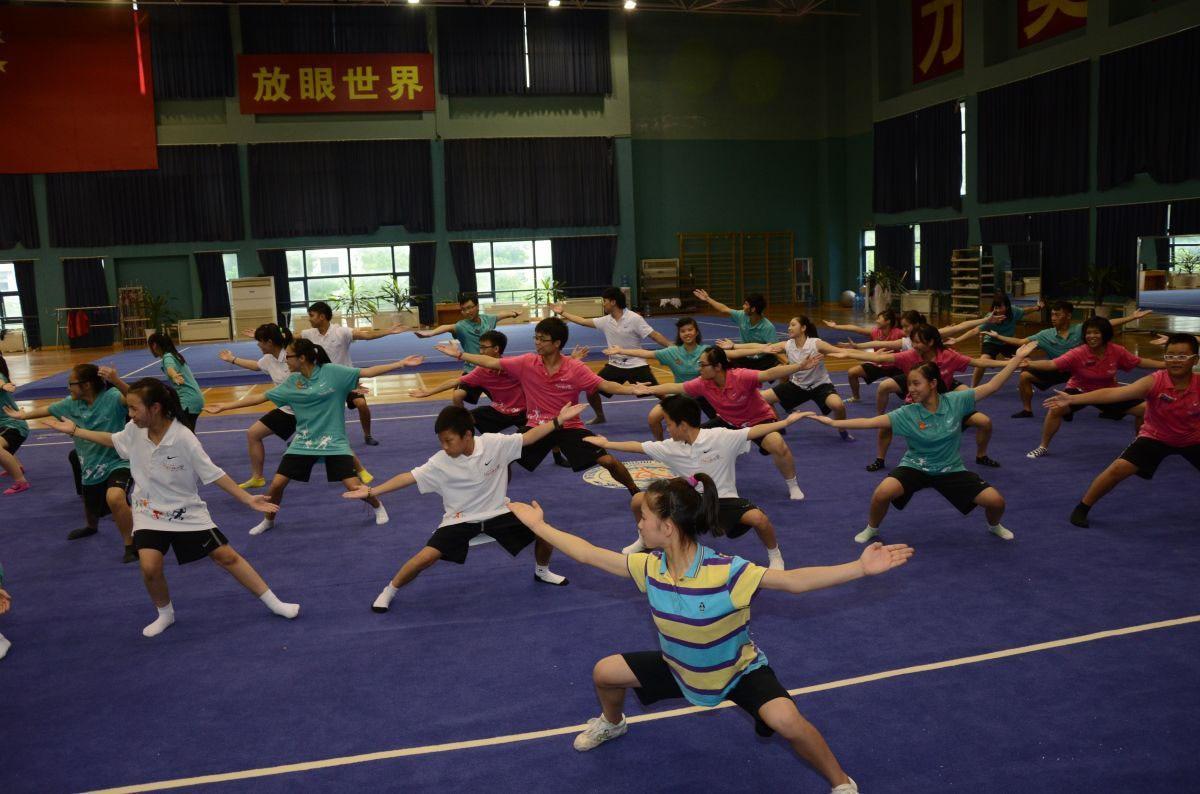 Martial arts instructors teach students | 導師教導同學武術